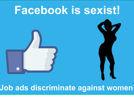 Facebook online advertising can be inherently sexist