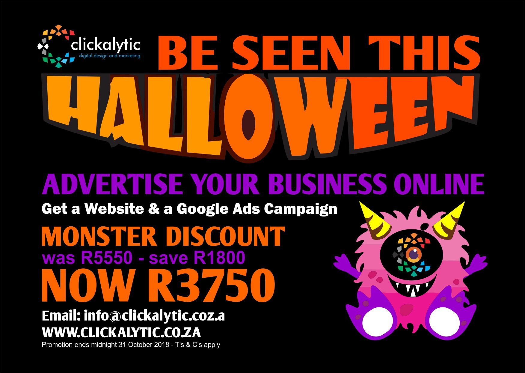 Halloween special-Website and Google Ads Combo