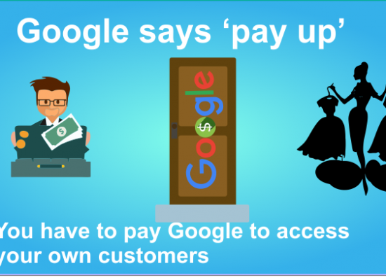 pay google for access to your own customers